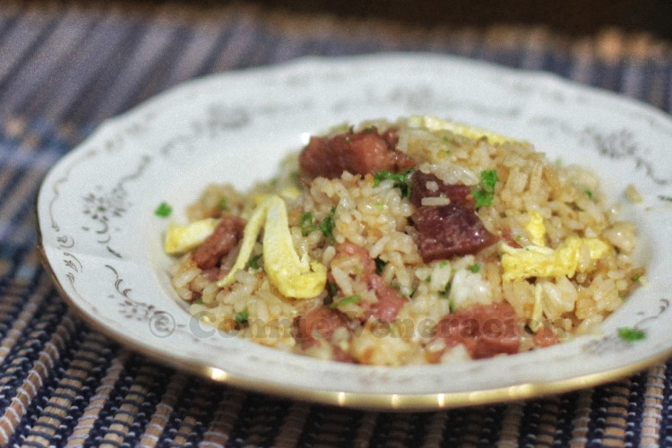 Tocino and Chinese sausage fried rice | casaveneracion.com