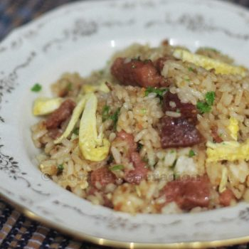 Tocino and Chinese sausage fried rice