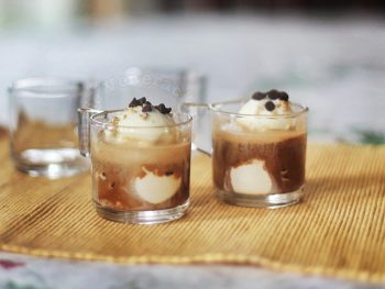 Affogato: ice cream drowned in coffee