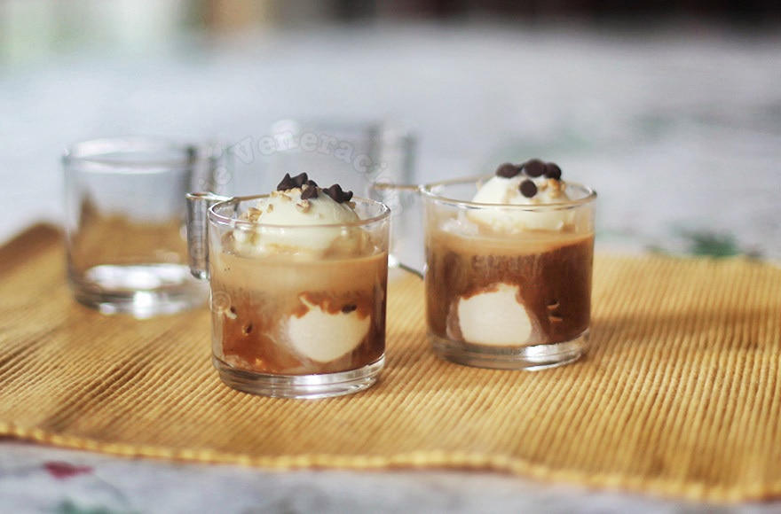 Affogato: ice cream drowned in coffee | casaveneracion.com