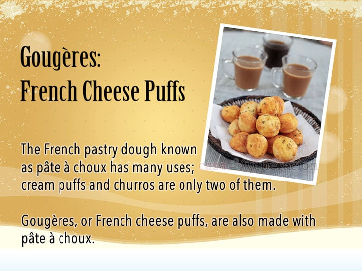 12 Days of Christmas Appetizers and Finger Food: Gougères: French Cheese Puffs