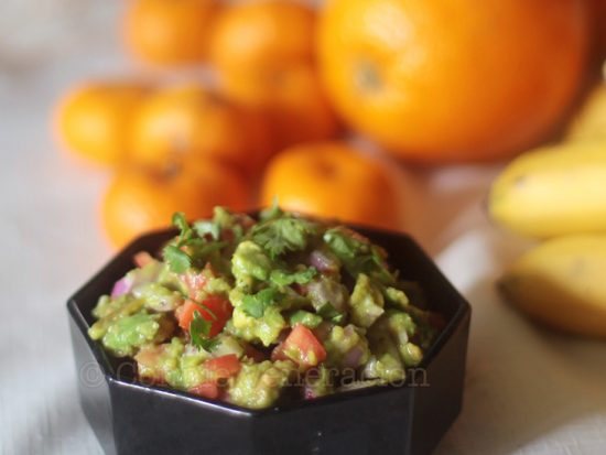 Guacamole With Garlic and Roasted Peppers