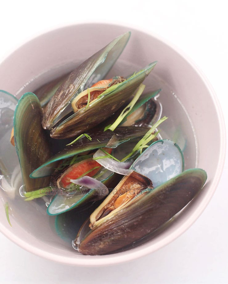 Sometimes called tinolang tahong or sinabawang tahong, gingered mussel soup is the most basic and the most common way of cooking fresh mussels in the Philippines.