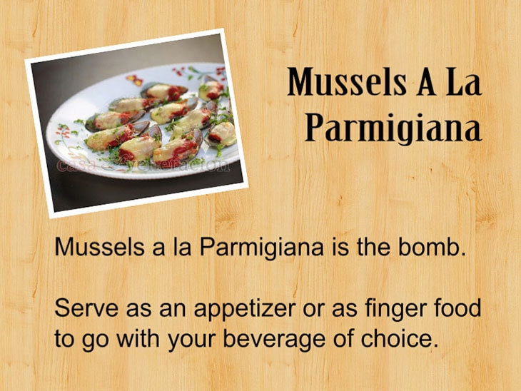 12 Days of Christmas Appetizers and Finger Food: Mussels A La Parmigiana