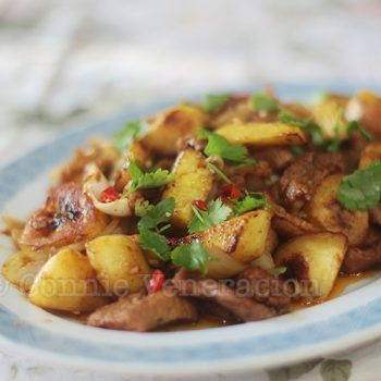 Chili Pork With Pineapple and Bananas