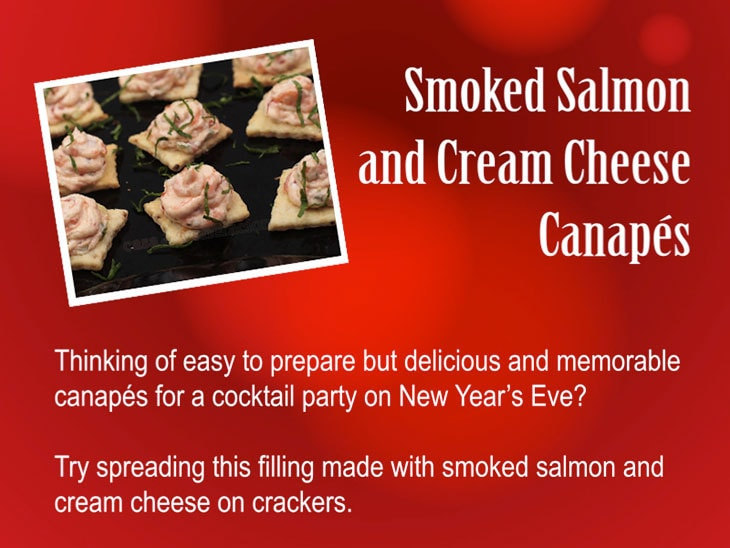 12 Days of Christmas Appetizers and Finger Food: Smoked Salmon and Cream Cheese Canapés