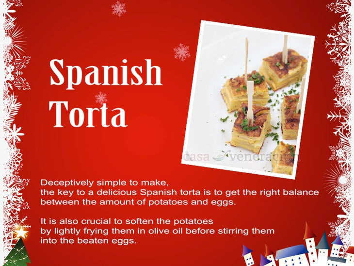 12 Days of Christmas Appetizers and Finger Food: Spanish Torta