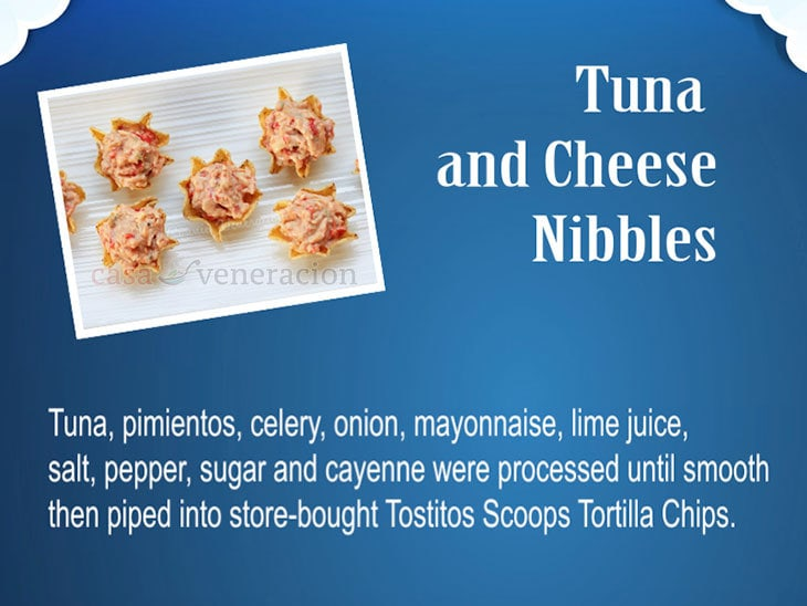 12 Days of Christmas Appetizers and Finger Food: Tuna and Cheese Nibbles