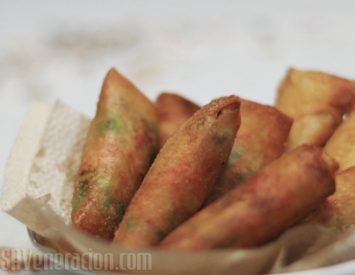 Banana and M&M's spring rolls