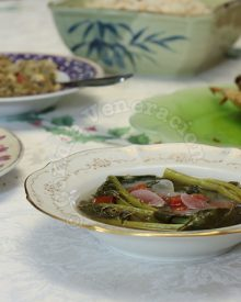 Chinese broccoli and tamarind soup