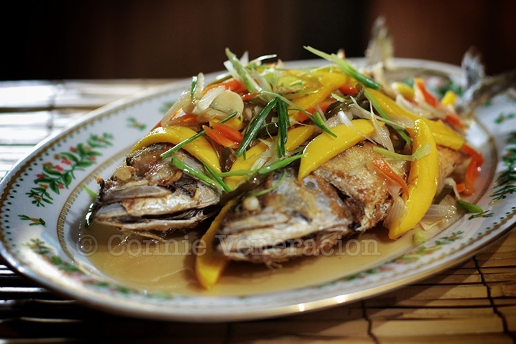 Filipino escabeche (fish with pickled vegetables)