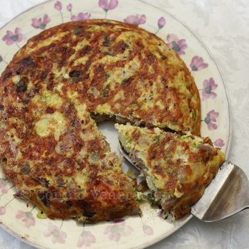 Pork and cabbage frittata