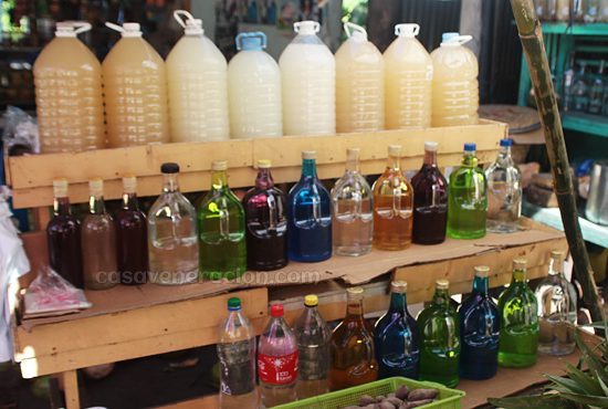 Coconut-based alcoholic drinks: tuba and lambanog