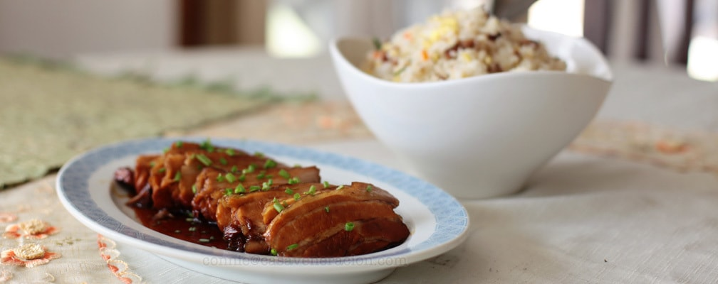 Yesterday's lunch: soy-honey pork and Chinese-style fried rice | casaveneracion.com