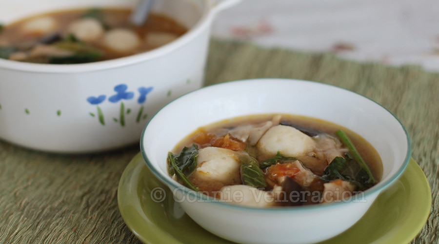casaveneracion.com Vegan mushroom and vegetables miso soup