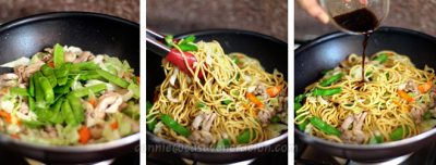 Chicken lo mein with soy-lemon sauce