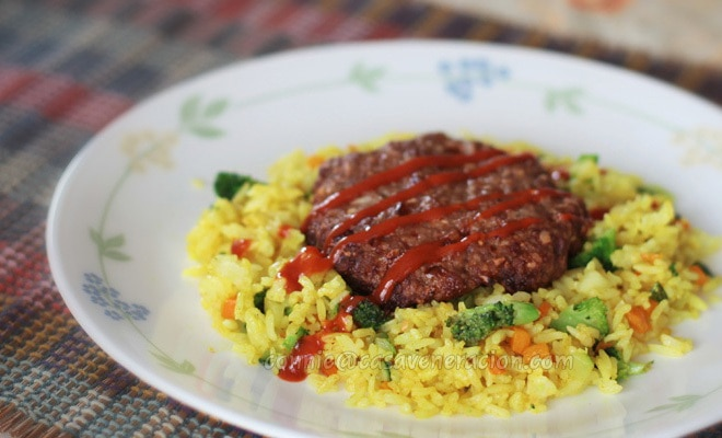 casaveneracion.com Chili and garlic burgers with vegetables fried rice