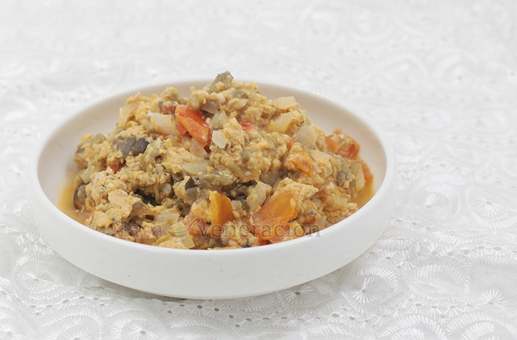 Poqui-poqui, an Ilocano Egg and Eggplant Dish