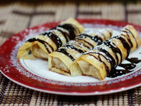 Baked Apple Spring rolls