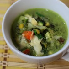 Corn and spinach soup