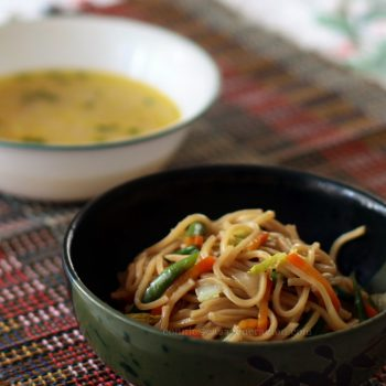 Meatless chow mein