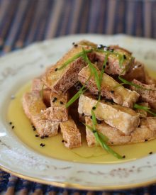 Crisp tofu fingers with honey-kalamansi sauce