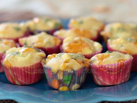3-cheese Mini Corn Muffins