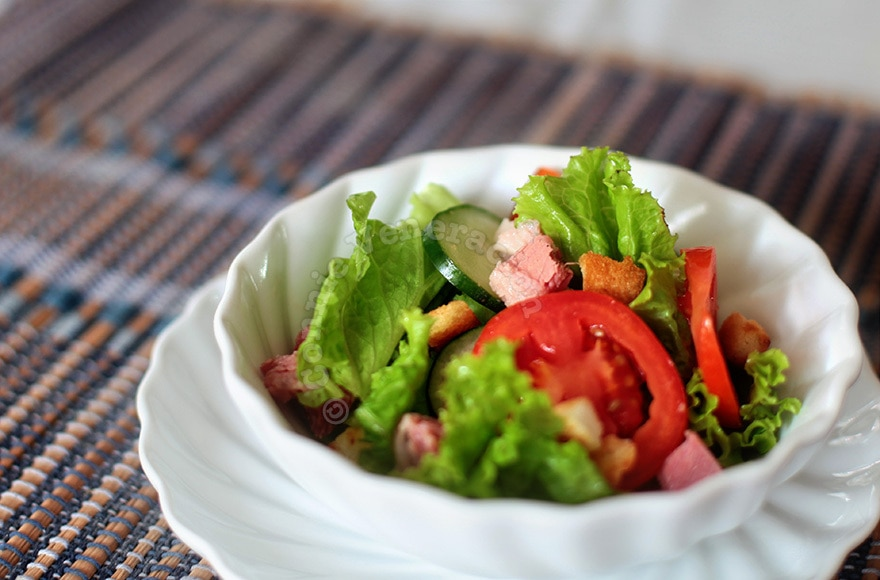 Corned Beef and Vegetables Salad With Mango Dressing | casaveneracion.com