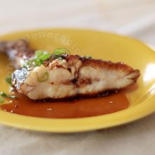 Fish with soy-honey sauce