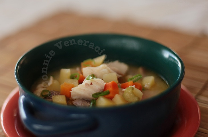 Fish soup with vegetables and yogurt | casaveneracion.com