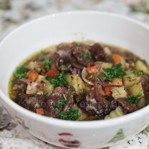 Holiday beef stew