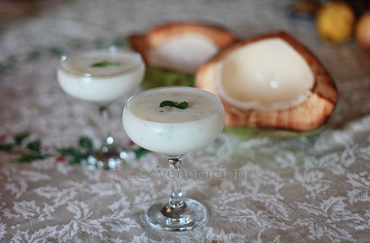 Guyabano (soursop) and coconut smoothie
