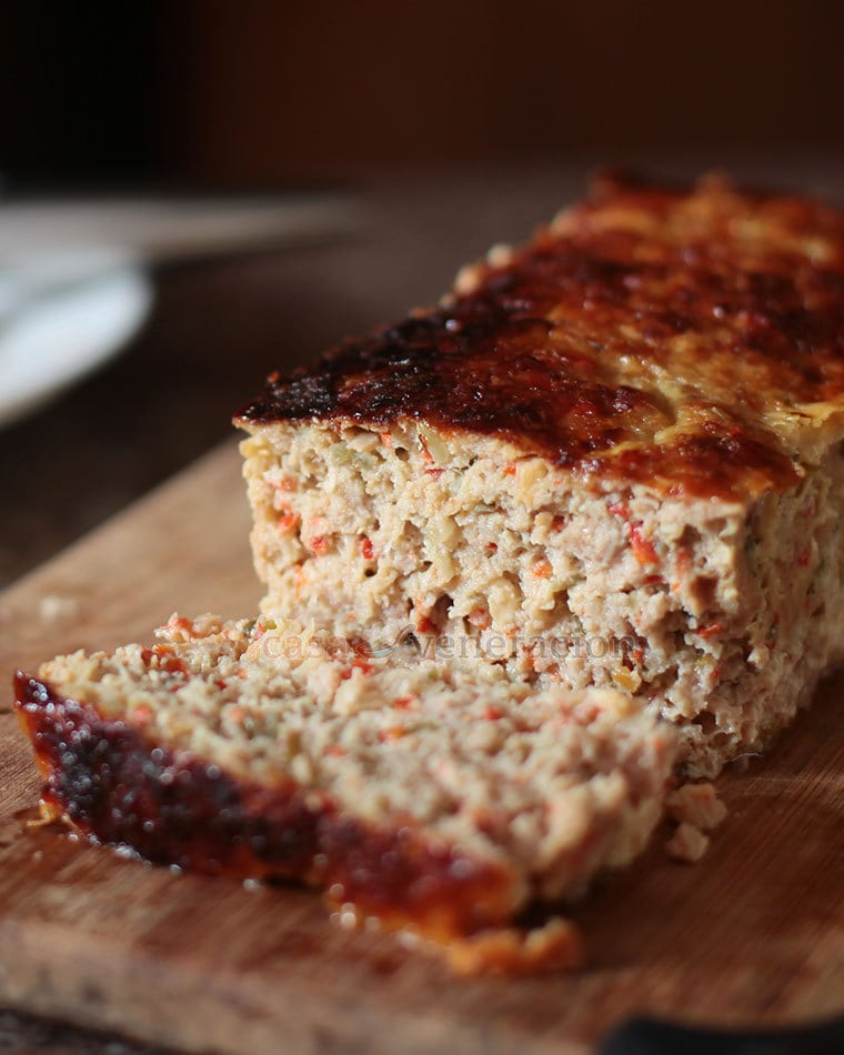 I prepared a ground pork mixture a la embutido, packed it in a small loaf pan and I baked it, Western meatloaf style. It looks every inch a Western meatloaf but, in flavor and aroma, it is Filipino embutido all the way.