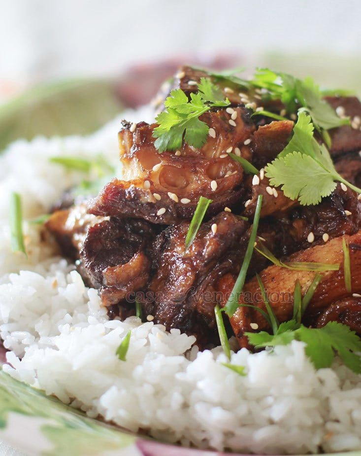 Slow Cooker Asian-style Glazed Beef Ribs Recipe