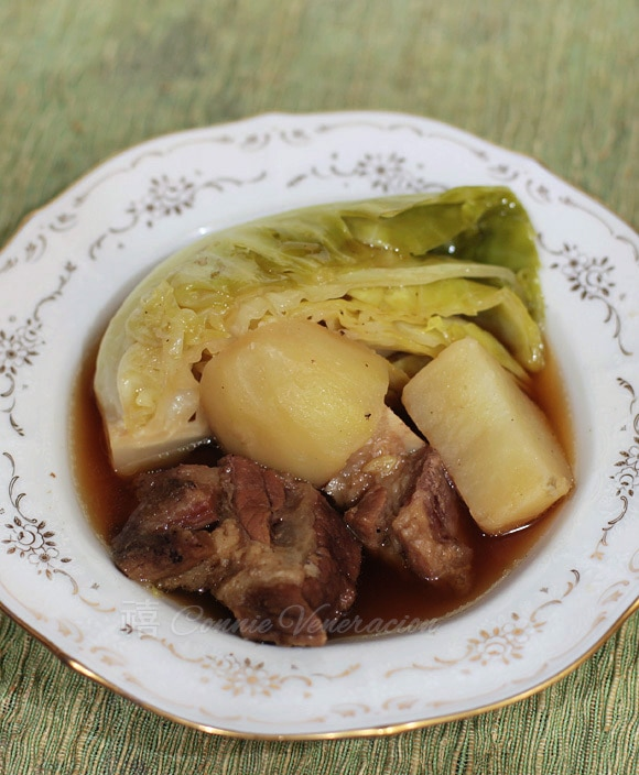 casaveneracion.com Nilagang baka (boiled beef) and vegetables with sweet-salty soy-flavored broth