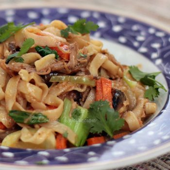 Spicy Tangy Peanut Noodles
