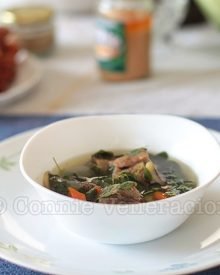 Beef With Ginger and Malunggay Soup