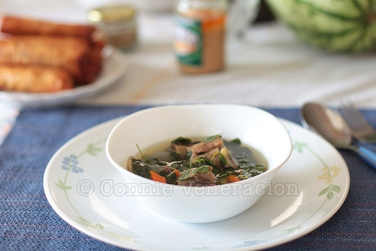 Beef With Ginger and Malunggay Soup | casaveneracion.com