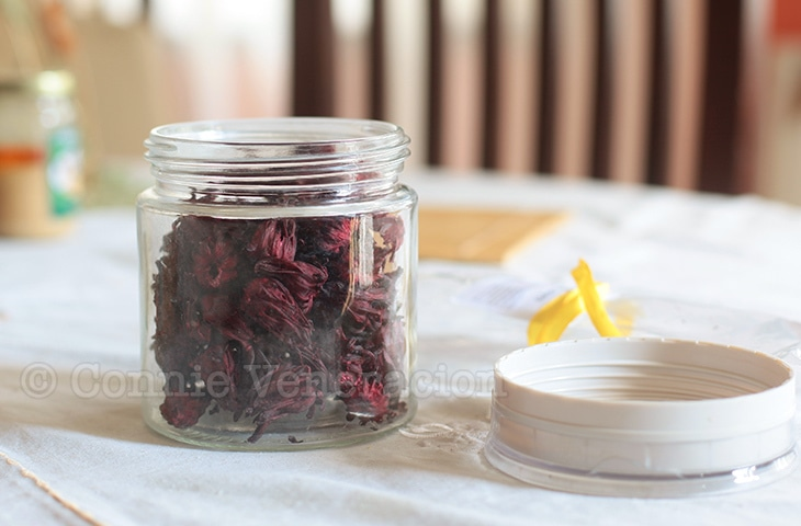 Hibiscus juice, inspired by the Negros Museum Cafe