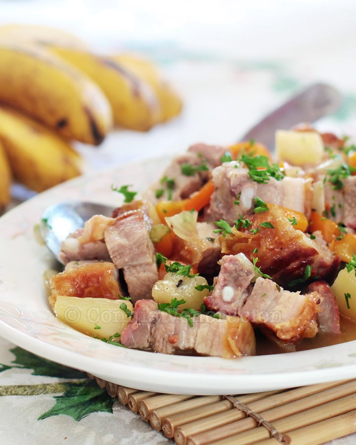 Crispy Pork Belly With Pineapple and Chili