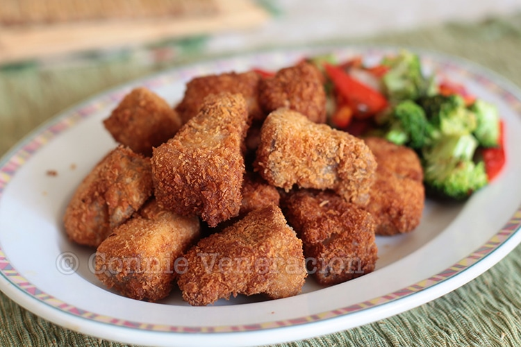 Liempo (pork belly) nuggets | casaveneracion.com