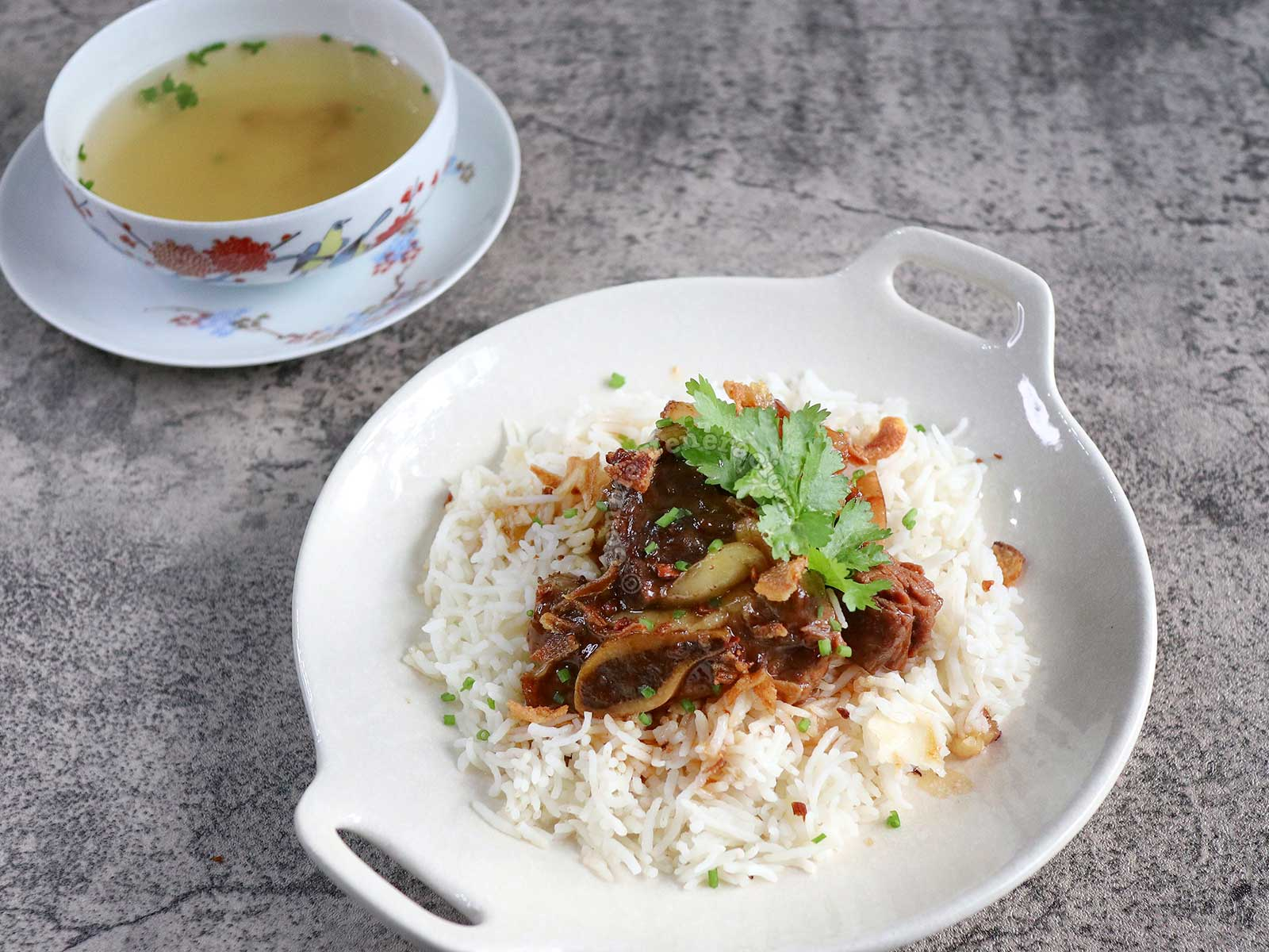 Beef Pares with Broth on the Side