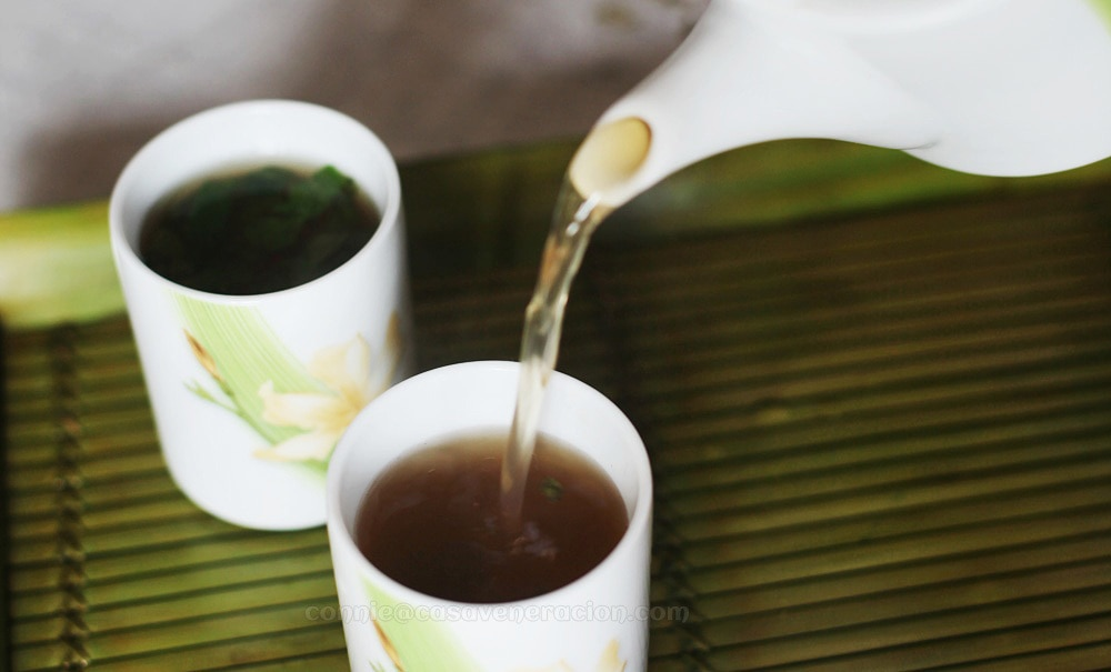Green tea with ginger, lemon and mint | casaveneracion.com