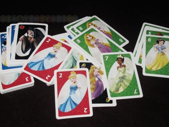 Playing Uno this weekend. Disney Princess edition.