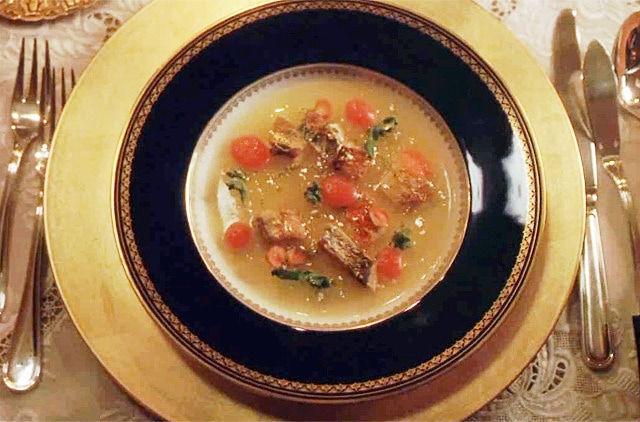 Russian ukha soup from the film I Am Love