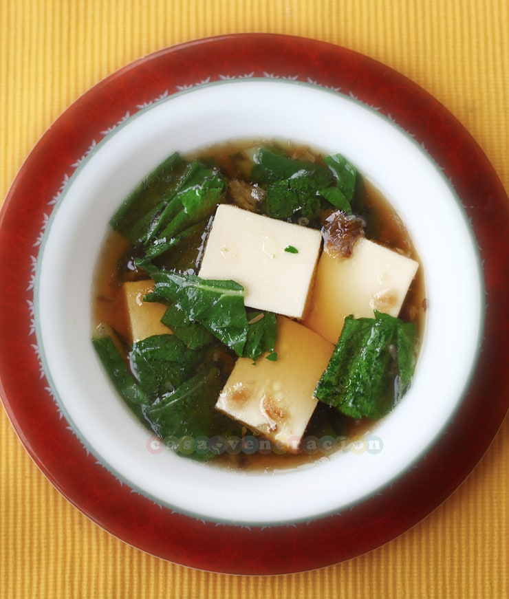 Soft tofu and pechay soup | casaveneracion.com