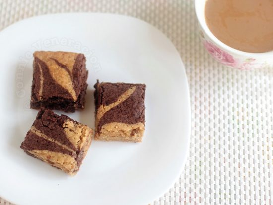 Butterscotch and chocolate fudge combo brownies