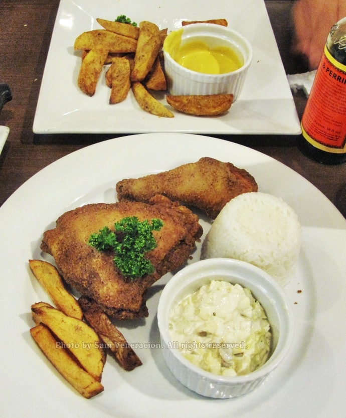 Fried chicken at House of Lasagna
