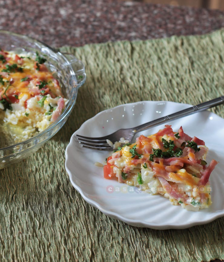 Rice and cheese quiche