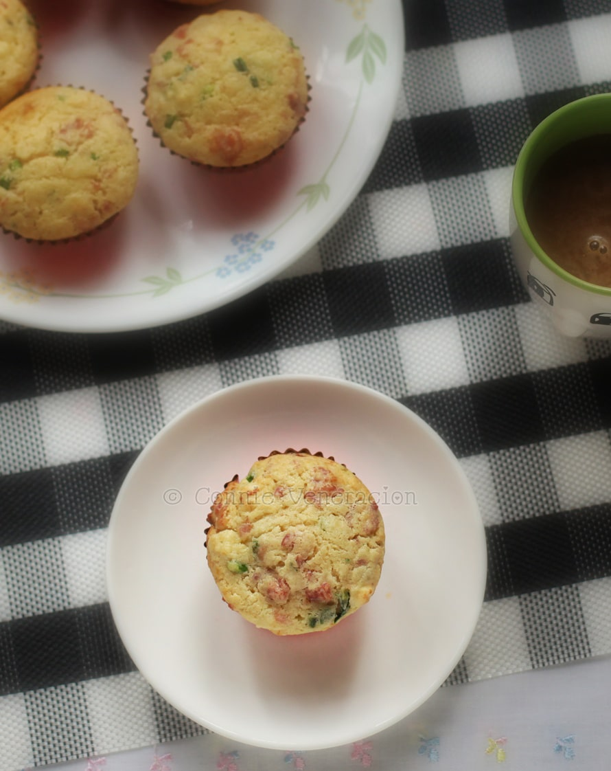 Bacon, Asparagus And Cottage Cheese Breakfast Muffins